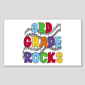 Bright Colors 3rd Grade Rectangle Sticker