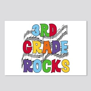 Bright Colors 3rd Grade Postcards (Package of 8)