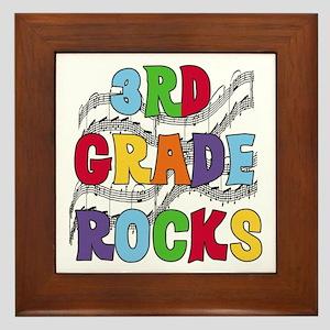 Bright Colors 3rd Grade Framed Tile