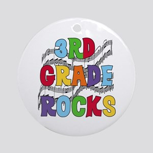 Bright Colors 3rd Grade Ornament (Round)
