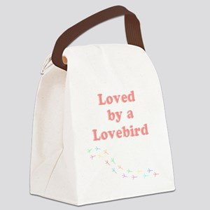 Loved by a Lovebird Canvas Lunch Bag