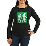 Hiking Women's Long Sleeve Dark T-Shirt