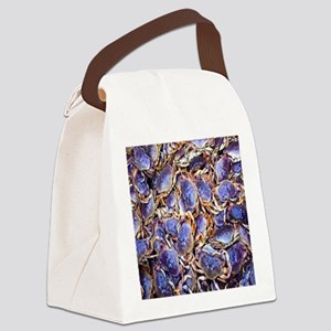 Blue Crab Canvas Lunch Bag
