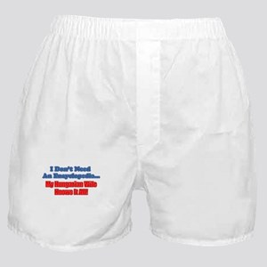 Hungarian Wife Knows It All Boxer Shorts