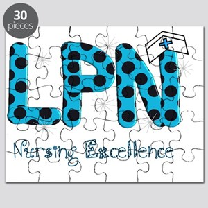 LPN blue black polka dots Puzzle
