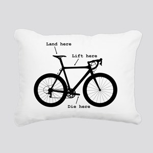 Lift here, land here, di Rectangular Canvas Pillow