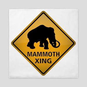 Mammoth Crossing Sign Queen Duvet