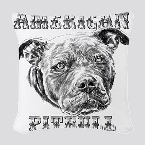 American Pitbull Woven Throw Pillow