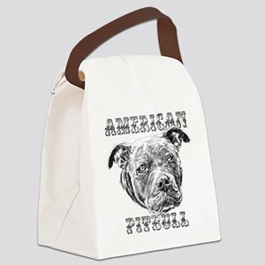 American Pitbull Canvas Lunch Bag