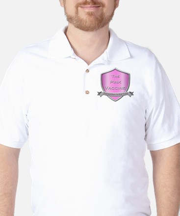 The Pink Vaccine Shield Golf Shirt