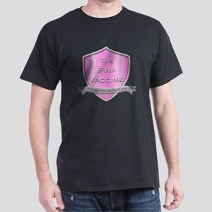 The Pink Vaccine Shield Dark T-Shirt