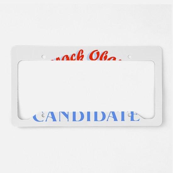 Manchurian Candidate dark T-s License Plate Holder