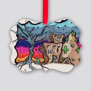 twisted tree Picture Ornament