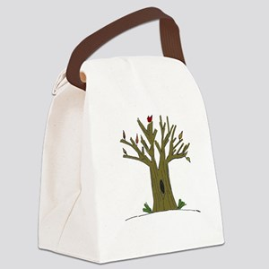 Tree with Cardinal Canvas Lunch Bag
