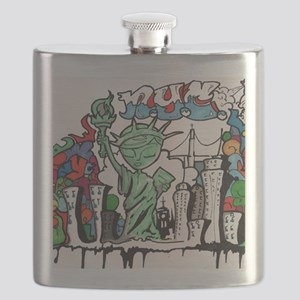 graffiti new york city Flask