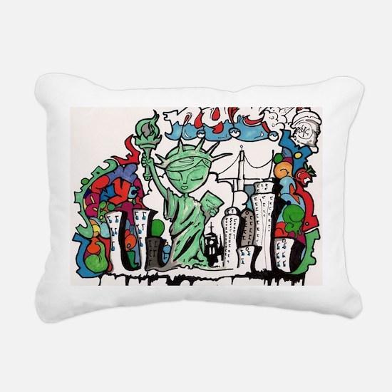 graffiti new york city Rectangular Canvas Pillow