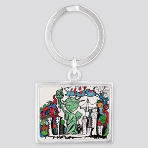 graffiti new york city Landscape Keychain