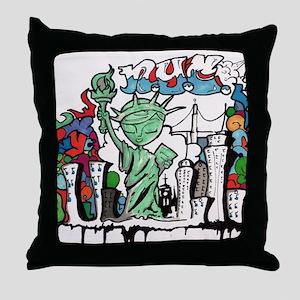 graffiti new york city Throw Pillow