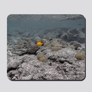 yellow tang Mousepad