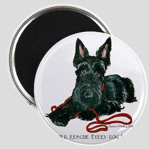 Scottish Terrier Rescue Me Magnet