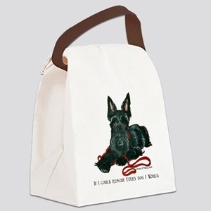 Scottish Terrier Rescue Me Canvas Lunch Bag
