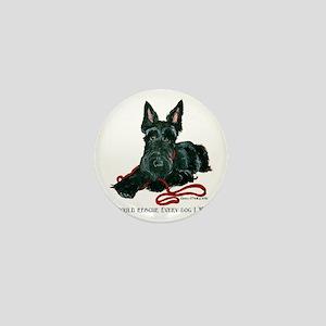 Scottish Terrier Rescue Me Mini Button
