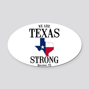 Houston Tx Oval Car Magnet