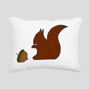 squirrel Rectangular Canvas Pillow