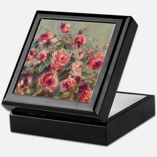Pierre-Auguste Renoir Roses Keepsake Box