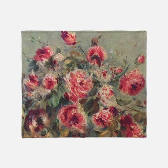 Pierre-Auguste Renoir Roses Throw Blanket