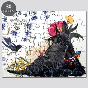 Scottish Terrier Hummingbird Puzzle