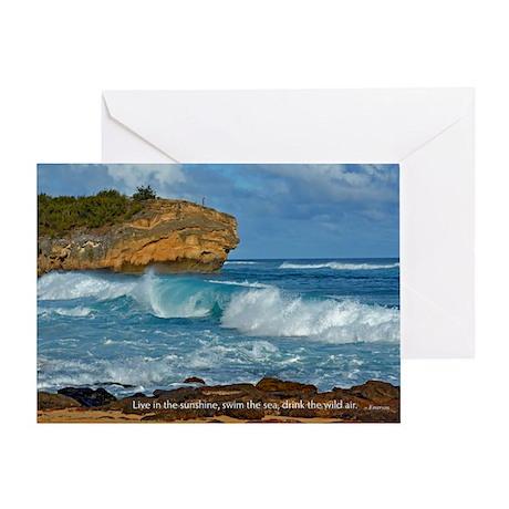 Shipwreck Beach Shorebreaks Greeting Card