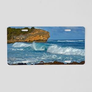 Shipwreck Beach Shorebreaks Aluminum License Plate