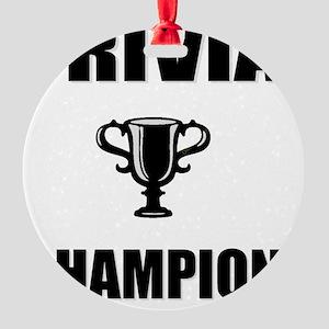 trivia champ Round Ornament