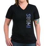 Suomi Women's V-Neck Dark T-Shirt