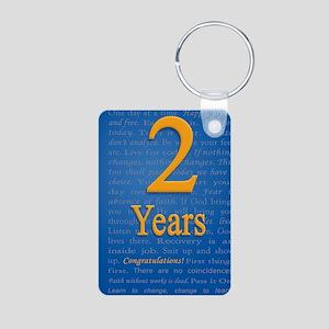 2 Years Recovery Slogan Bi Aluminum Photo Keychain