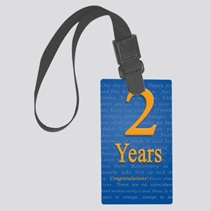 2 Years Recovery Slogan Birthday Large Luggage Tag