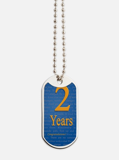 2 Years Recovery Slogan Birthday Card Dog Tags