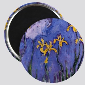 Monet Yellow Irises Magnet