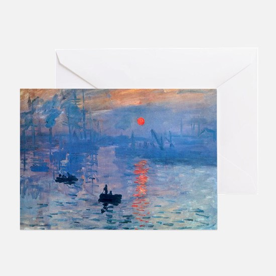 Monet Sunrise Greeting Card