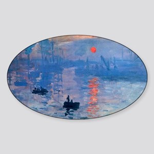 Monet Sunrise Sticker (Oval)