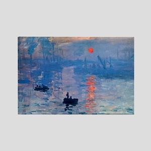 Monet Sunrise Rectangle Magnet