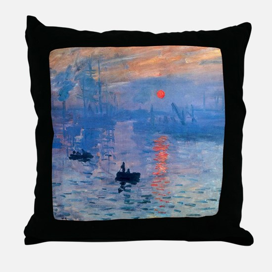 Monet Sunrise Throw Pillow