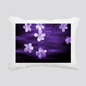 Cherry Blossom Night Sha Rectangular Canvas Pillow