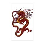 Chinese Dragon Rectangle Sticker