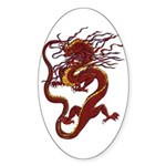Chinese Dragon Oval Sticker