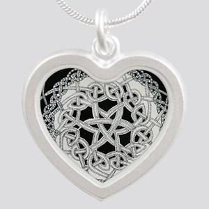 celtic knot Silver Heart Necklace