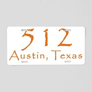512 Austin Texas Area Code  Aluminum License Plate