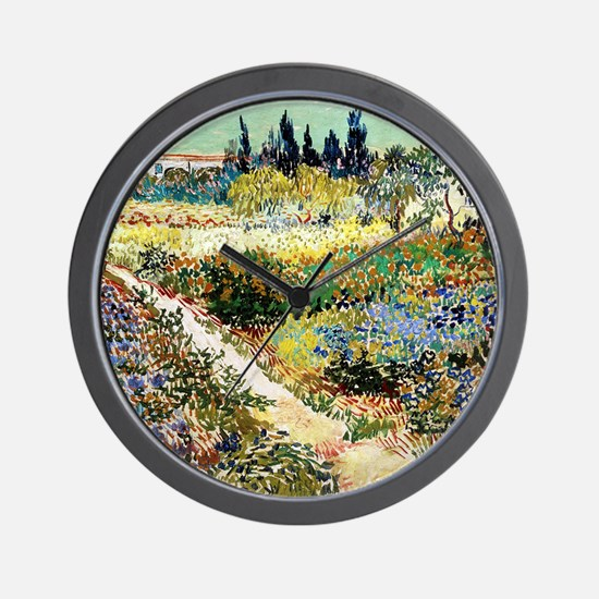 Van Gogh Garden At Arles Wall Clock
