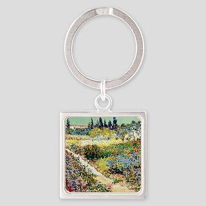 Van Gogh Garden At Arles Square Keychain